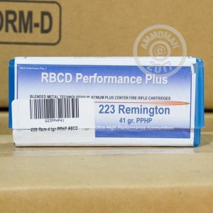 Picture of 223 REMINGTON RBCD PERFORMANCE PLUS 41 GRAIN PPHP (20 ROUNDS)