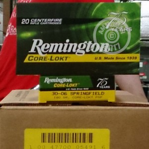 Picture of 30-06 SPR REMINGTON CORE-LOKT 180 GRAIN SOFT POINT (20 ROUNDS)