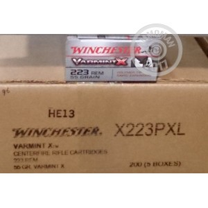 Picture of 223 REMINGTON WINCHESTER VARMINT X 55 GRAIN PT (40 ROUNDS)
