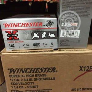 "Picture of 12 GAUGE WINCHESTER SUPER-X HEAVY FIELD LOAD 2-3/4"" 1-1/4 OZ. #5 SHOT (250 ROUNDS)"