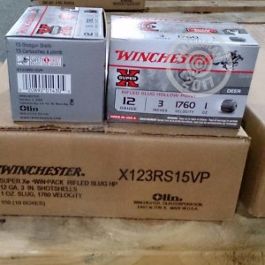 "Picture of 12 GAUGE WINCHESTER SUPER-X 3"" 1 OZ. RIFLED SLUG (150 ROUNDS)"