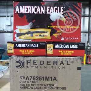 Picture of 7.62X51 FEDERAL AMERICAN EAGLE 168 GRAIN OTM (200 ROUNDS)