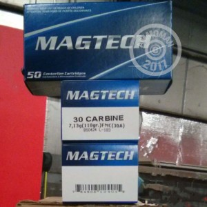 Picture of 30 CARBINE MAGTECH 110 GRAIN FMC (50 Rounds)