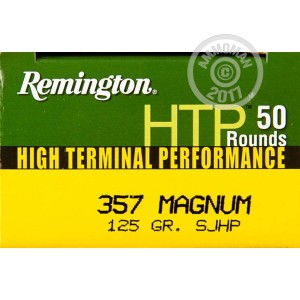 Picture of 357 MAGNUM REMINGTON HTP 125 GRAIN SJHP (50 ROUNDS)