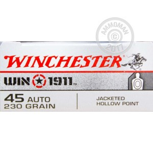 Picture of 45 ACP WINCHESTER WIN 1911 230 GRAIN JHP (500 ROUNDS)