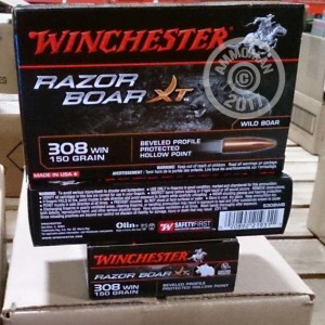 Picture of 308 WIN WINCHESTER RAZORBACK XT 150 GRAIN BPPHP (20 ROUNDS)