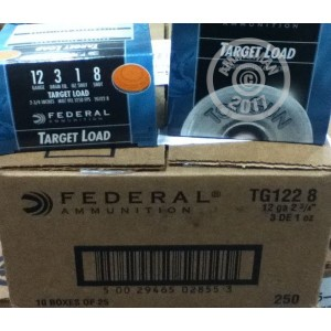 "Picture of 12 GAUGE FEDERAL TARGET LOAD 2 3/4"" 1 OZ. #8 SHOT (250 ROUNDS)"