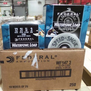 """Picture of 12 GAUGE FEDERAL SPEED-SHOK 2-3/4"""" 1-1/8 OZ. #3 STEEL SHOT (25 ROUNDS)"""