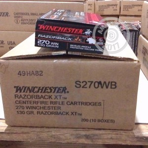 Picture of 270 WIN WINCHESTER RAZORBACK XT 130 GRAIN HOLLOW POINT (20 ROUNDS)
