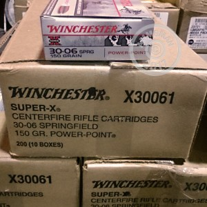 Picture of .30-06 SPRINGFIELD WINCHESTER SUPER-X 150 GRAIN SP (20 ROUNDS)