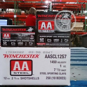 "Picture of 12 GAUGE WINCHESTER AA STEEL SPORTING CLAY 2-3/4"" 1 OZ. #7.5 SHOT (25 ROUNDS)"