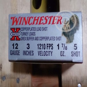 """Picture of 12 GAUGE WINCHESTER SUPER-X 3"""" 1 7/8 OZ #5 SHOT TURKEY LOAD (10 ROUNDS)"""
