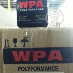 Picture of 223 REMINGTON WOLF WPA POLYFORMANCE 62 GRAIN FMJ (20 ROUNDS)