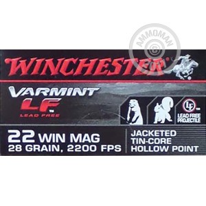 Picture of 22 WMR WINCHESTER 28 GRAIN JHP (50 ROUNDS)