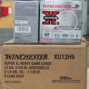 """Picture of 12 GAUGE WINCHESTER SUPER-X HEAVY GAME LOAD 2 3/4"""" 1 1/8 OZ. #6 SHOT (25 ROUNDS)"""