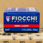 Image of 9mm Ammo - 1000 Rounds of Bulk Fiocchi 115gr 9mm FMJ ammunition from AmmoMan - Free shipping on bulk ammo!