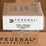 Image of 7.62x51mm Ammo at AmmoMan.com - Federal XM80CL 149 Grain FMJ - 500 Rounds