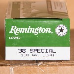 Image of 500 Rounds of 38 Special 158 Grain Remington UMC LRN Ammo at AmmoMan.com