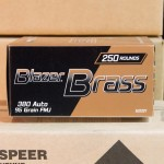 Image of .380 ACP Ammo - 250 Rounds of Blazer Brass Value Pack  95 Grain FMJ at AmmoMan.com
