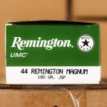 Image of 44 Remington Magnum Ammo at AmmoMan.com - Remington L44MG7 180 Grain Jacketed Soft Point - 500 Rounds