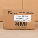 Image of 1000 Rounds of 9mm Luger 115 Grain IMI FMJ Ammo at AmmoMan.com