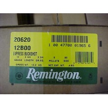 "REMINGTON 12GA 2-3/4"" 00 BUCKSHOT 9-PELLET #20620 (250 ROUNDS)"