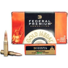 7.62 NATO FEDERAL GOLD MEDAL MATCH 175 GRAIN BTHP (500 ROUNDS)
