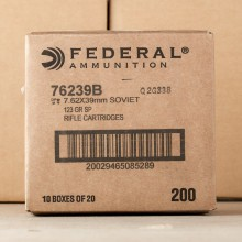 7.62x39 - 123 Grain SP - Federal Power Shok - 20 Rounds