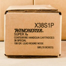 38 SPECIAL WINCHESTER SUPER-X 158 GRAIN LRN (50 ROUNDS)