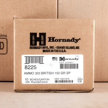 303 BRITISH HORNADY INTERLOCK 150 GRAIN SP (20 ROUNDS)