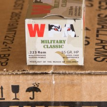223 REMINGTON WOLF WPA MILITARY CLASSIC 55 GRAIN HP (20 ROUNDS)
