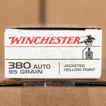 380 ACP WINCHESTER 95 GRAIN JHP (50 ROUNDS)