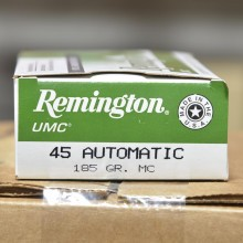 .45 ACP REMINGTON UMC 185 GRAIN MC (50 ROUNDS)