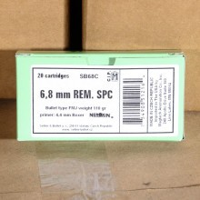 6.8MM SPC SELLIER & BELLOT 110 GRAIN FMJ (20 ROUNDS)