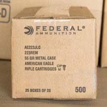 .223 REMINGTON FEDERAL AMERICAN EAGLE 55 GRAIN FMJ-BT (20 ROUNDS)
