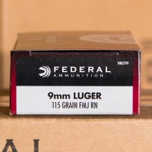 9MM LUGER FEDERAL CHAMPION 115 GRAIN FMJ (50 ROUNDS)