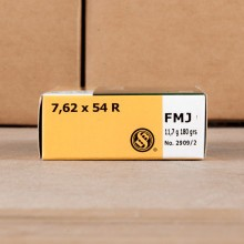 7.62X54R SELLIER & BELLOT 180 GRAIN FMJ (20 ROUNDS)