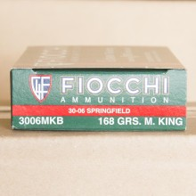 30-06 SPRINGFIELD FIOCCHI SIERRA MATCHKING 168 GRAIN BTHP (20 ROUNDS)