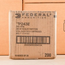 243 WIN FEDERAL VITAL-SHOK 100 GRAIN NOSLER PARTITION SP (20 ROUNDS)