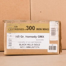 300 WIN MAG BLACK HILLS GOLD 165 GRAIN HORNADY GMX (20 ROUNDS)