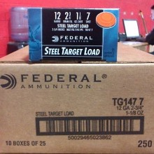"12 GAUGE FEDERAL TOP GUN STEEL 2-3/4"" #7 (250 SHELLS)"