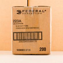 .223 REM FEDERAL POWER-SHOK 55 GRAIN SP (20 ROUNDS)