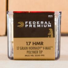 17 HMR FEDERAL 17 GRAIN V-MAX (50 ROUNDS)