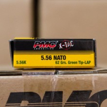 5.56x45MM PMC X-TAC GREEN TIP NATO 62 GRAIN FULL METAL JACKET (20 ROUNDS)