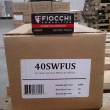 40 S&W FIOCCHI SHOOTING DYNAMICS 165 GRAIN FMJ (1000 ROUNDS)