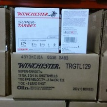 "12 GAUGE WINCHESTER SUPER TARGET 2-3/4"" #9 SHOT (25 ROUNDS)"