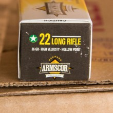 22 LR ARMSCOR 36 GRAIN HP (50 ROUNDS)