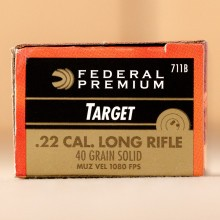22 LR FEDERAL GOLD MEDAL TARGET 40 GRAIN SUBSONIC (500 ROUNDS)