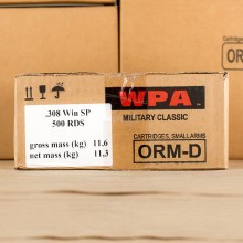 308 Winchester - 140 Grain WPA SP - Wolf - 500 Rounds