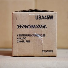 45 ACP WINCHESTER RANGE PACK 230 GRAIN FMJ (600 ROUNDS)